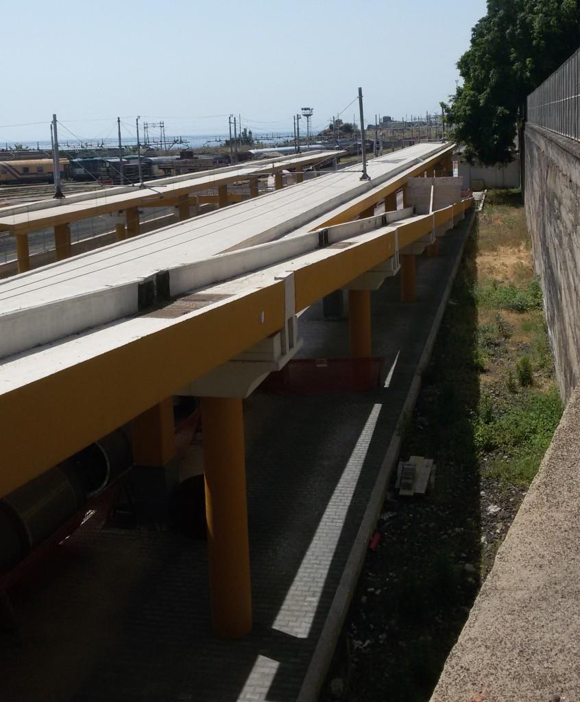 La rampa di accesso alla Stazione Europa