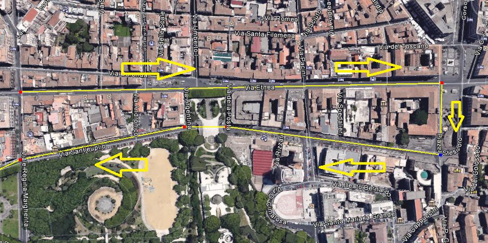 BRT in via Sant'Euplio