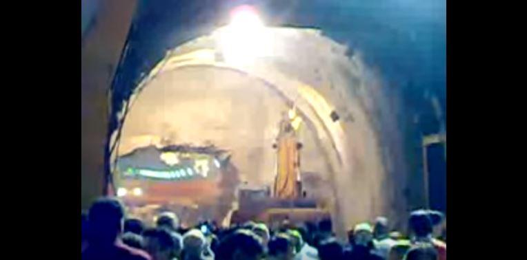 Abbattimento dell'ultimo diaframma nel tratto Nesima-Borgo, 2009