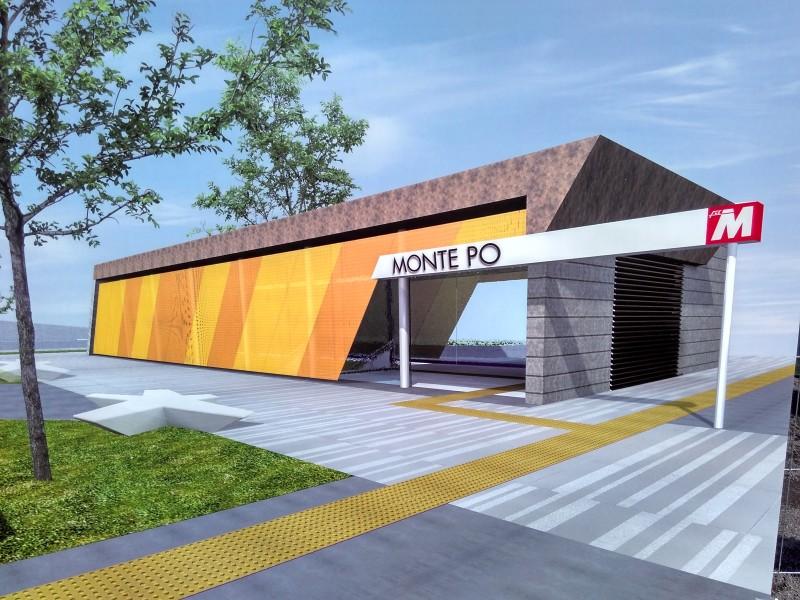 Stazione Monte Po: render accesso in superficie