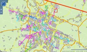 mappa Percorsi-Fermate Progetto Pedibus Reggio Emilia