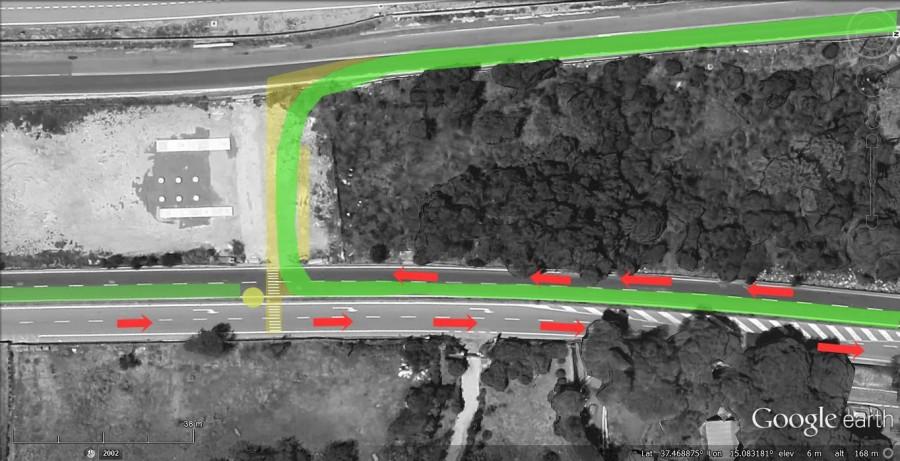 Tratto di pista ciclabile di collegamento tra via S.G. La Rena e viale Kennedy