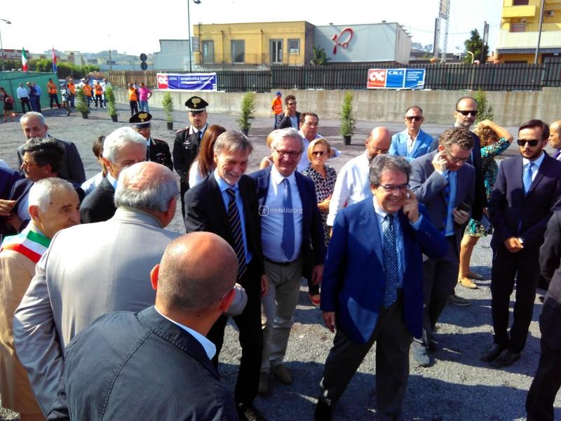 Il Ministro Delrio in visita al cantiere