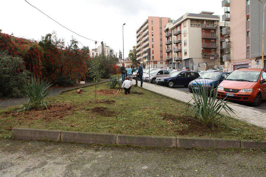 Guerrilla Gardening in via Caronda (Catania)