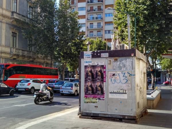 Stazione di rilevamento della qualità dell'aria tra Viale Vittorio Veneto e Corso Italia