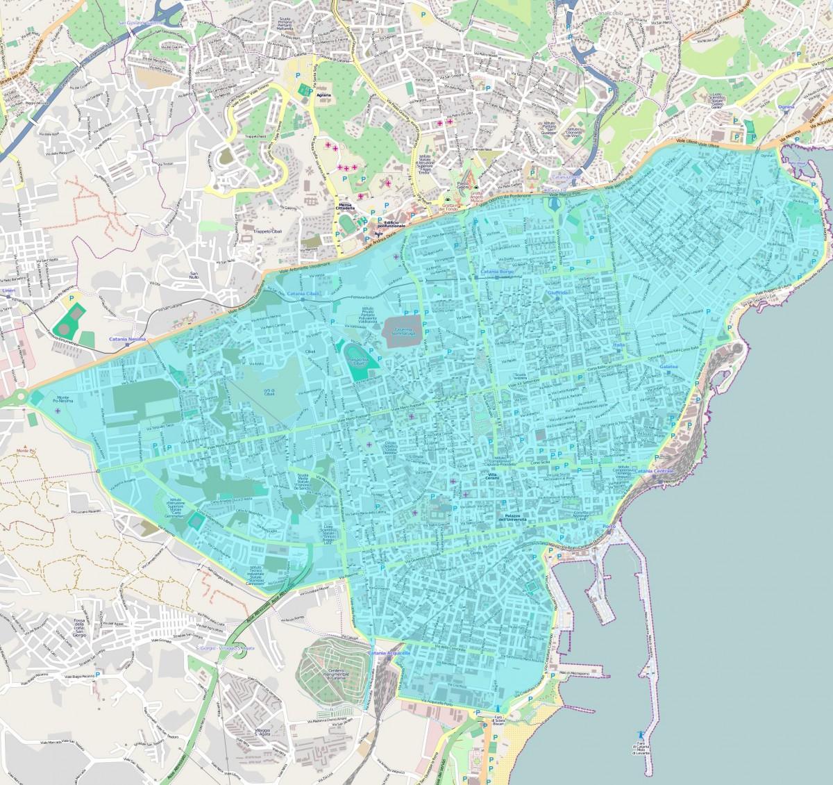 Area in cui sarà valida la tariffa di 10 euro