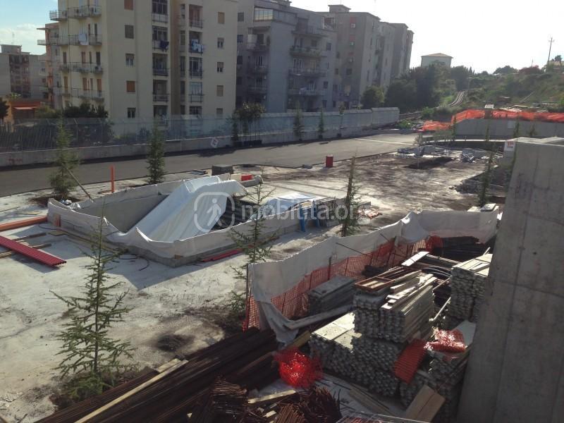 Panoramica del cantiere della stazione Milo [foto Luigi Sciarrone]