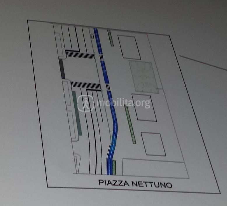 Dettaglio Piazza Nettuno Ciclabile