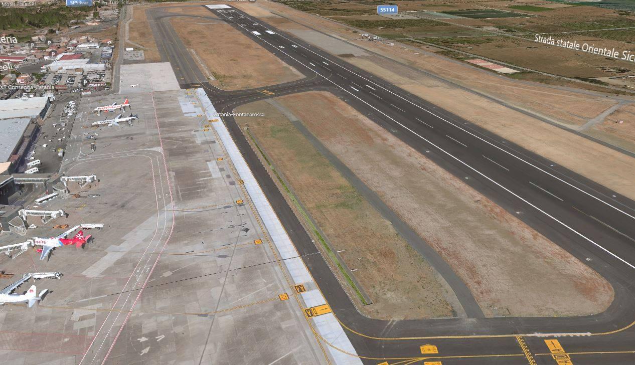 Aeroporto Elba Allungamento Pista : Nuova pista aeroporto di fontanarossa il progetto