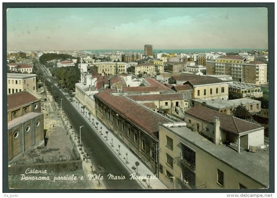 Viale Mario Rapisardi prima dell'allargamento, fonte fanpage Catania Sparita