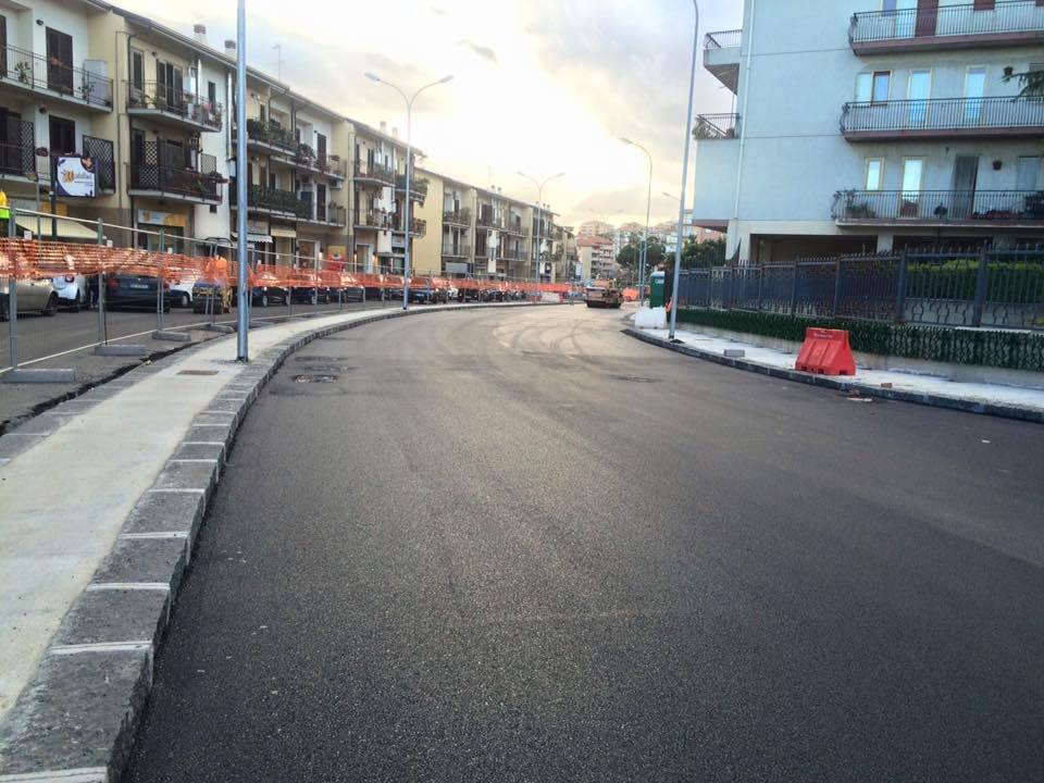 Via Sgroppillo: primo tratto del cantiere ormai completo