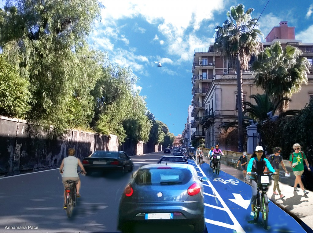 Bike lanes via Tomaselli-Monastero dei Benedettini- linea B2