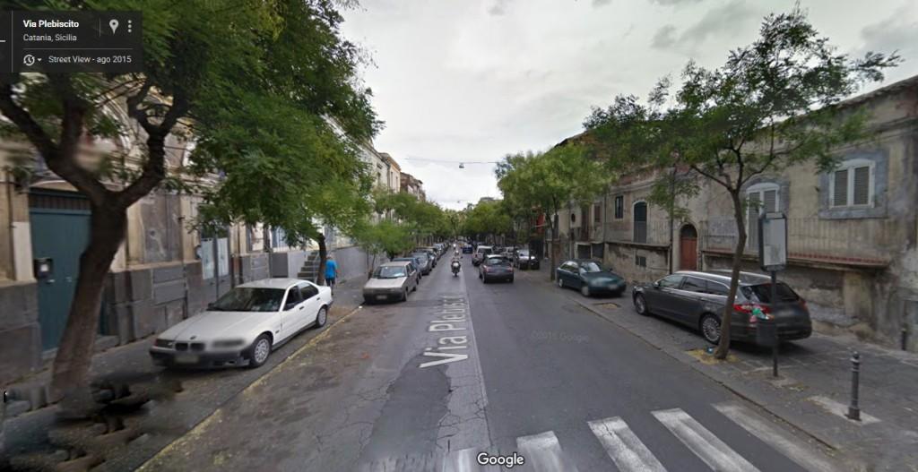 via Plebiscito-Catania- stato di fatto