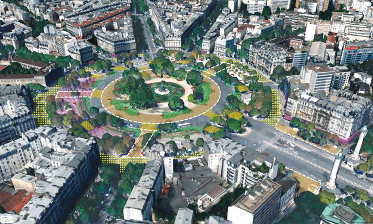 Place de la Nation (Parigi), progetto
