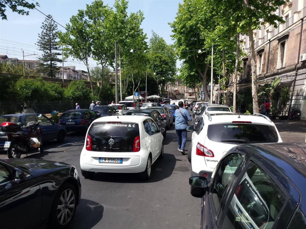 Attuale situazione di congestione in via Cardinale Dusmet