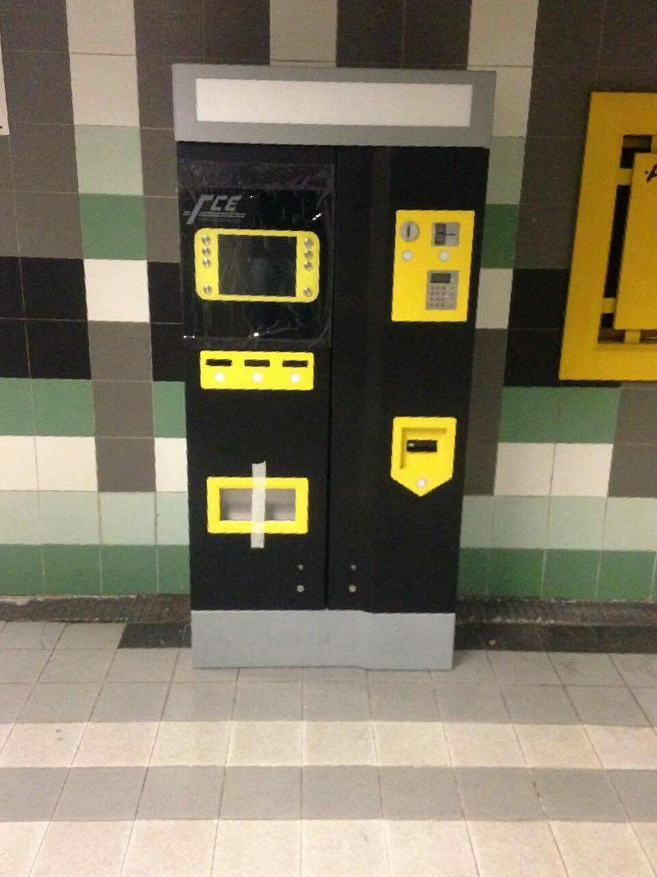 Nuova emittitrice self service presso la stazione Borgo della metropolitana (foto di Sevy Vallarelli)