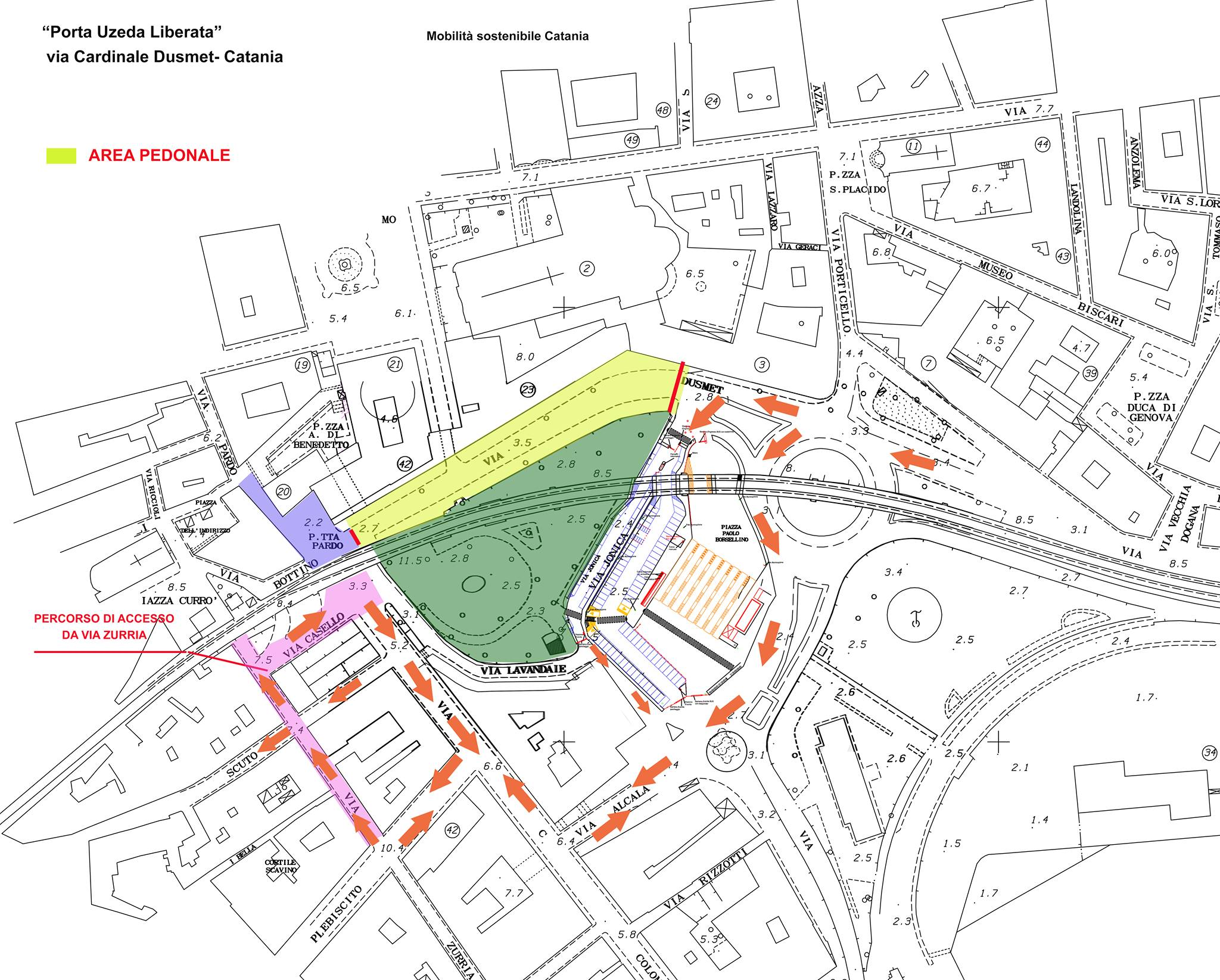Area pedonale e viabilità alternativa