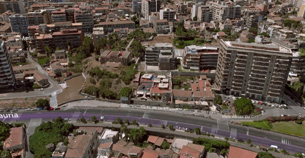Tratto compreso tra via del Ponte e via Guerrera: devono essere avviate la pratiche per l'esproprio di buona parte di edifici privati