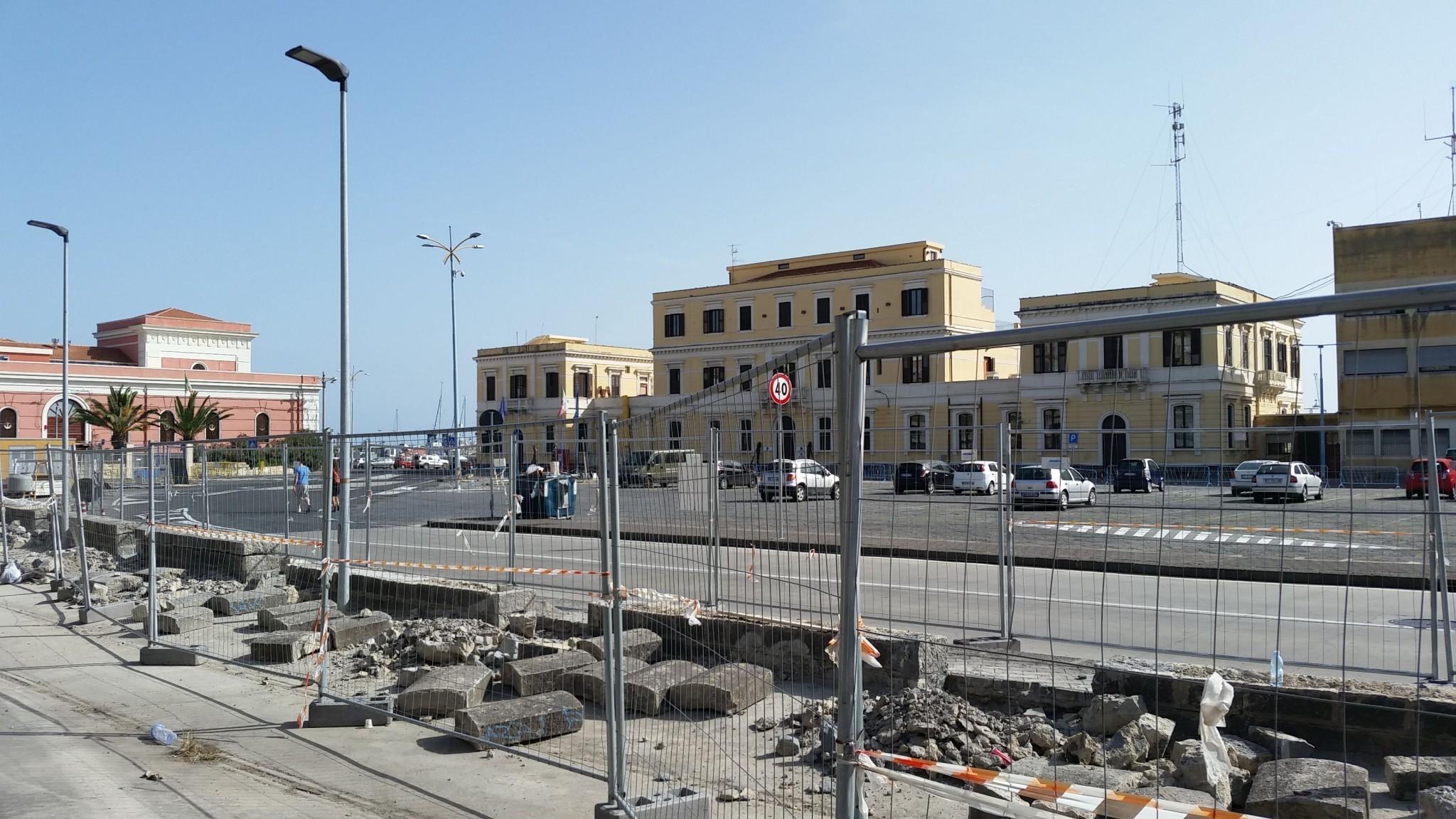 Lavori di apertura del porto alla città, ottobre 2016