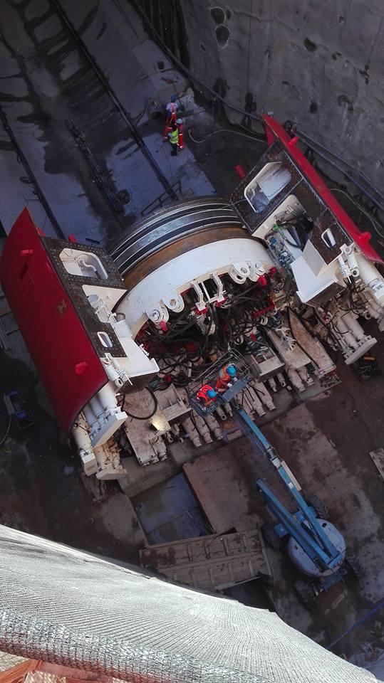 Lo scudo prima del montaggio della Testa Rotante. Foto di  G.G.