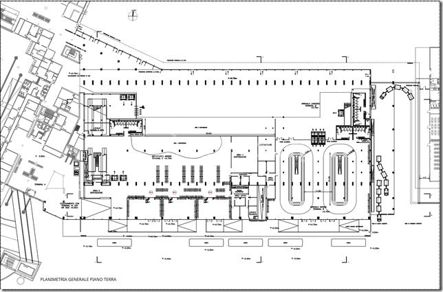 Terminal B. Piano Terra. Progetto