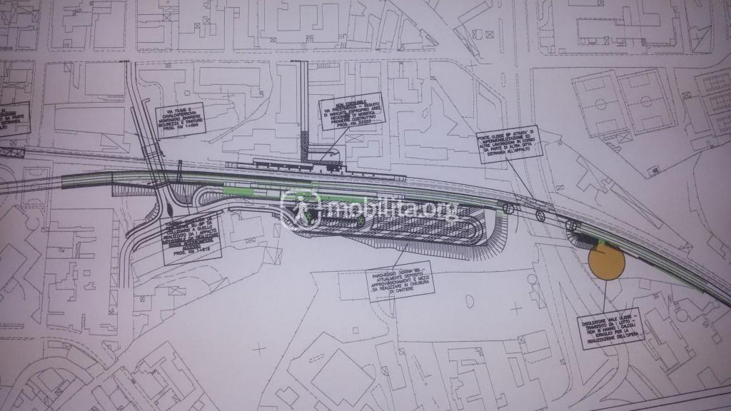 Planimetria della stazione Ognina