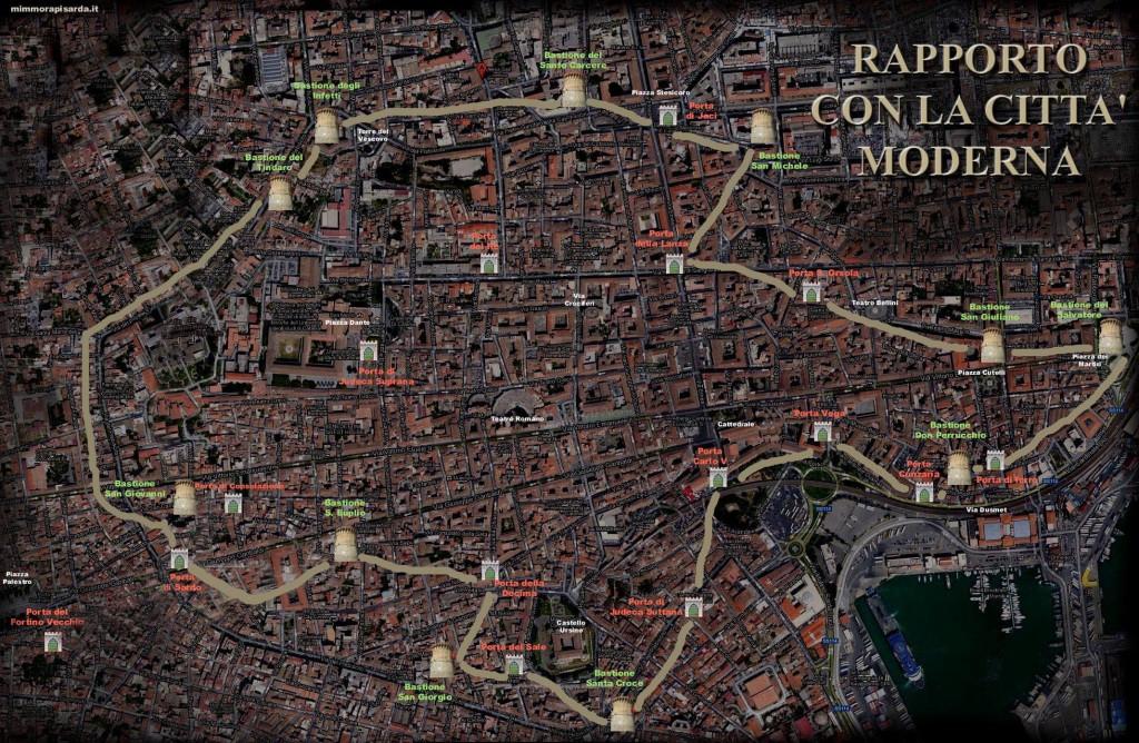 Mura e Bastioni di Catania: elaborazione grafica di Mimmo Rapisarda