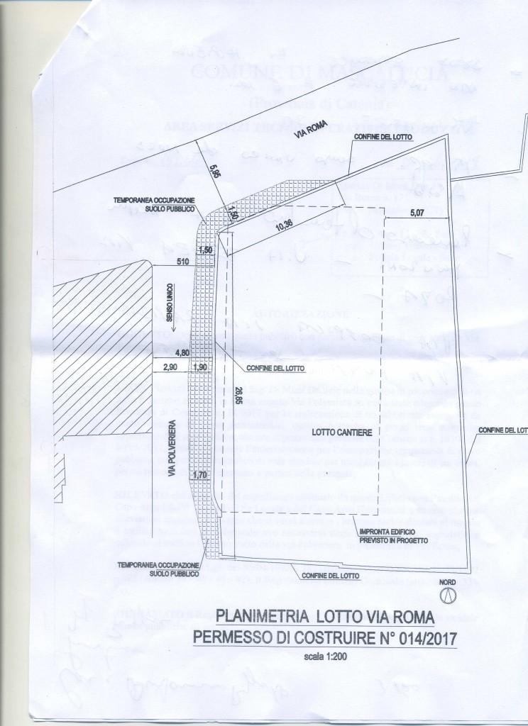 Planimetria dell'intervento in via Polveriera, Mascalucia