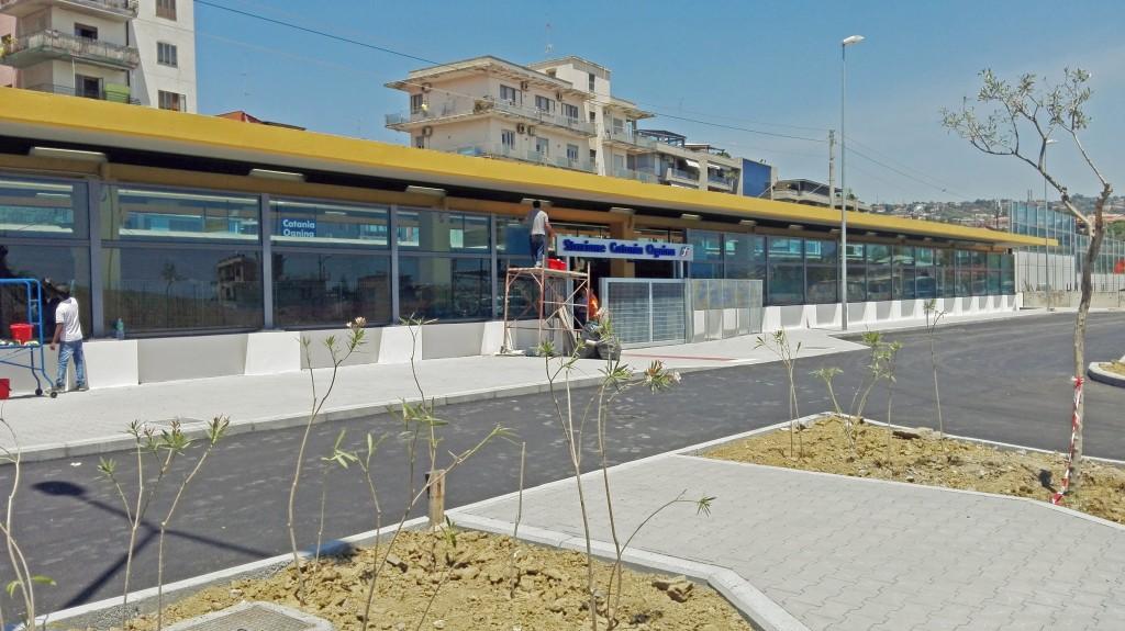 La stazione di Catania Ognina in via Fiume