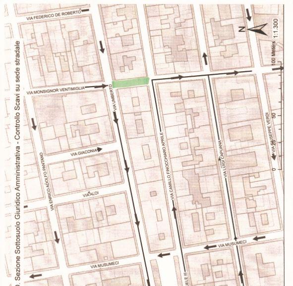 Planimetria interventi in via Ventimiglia