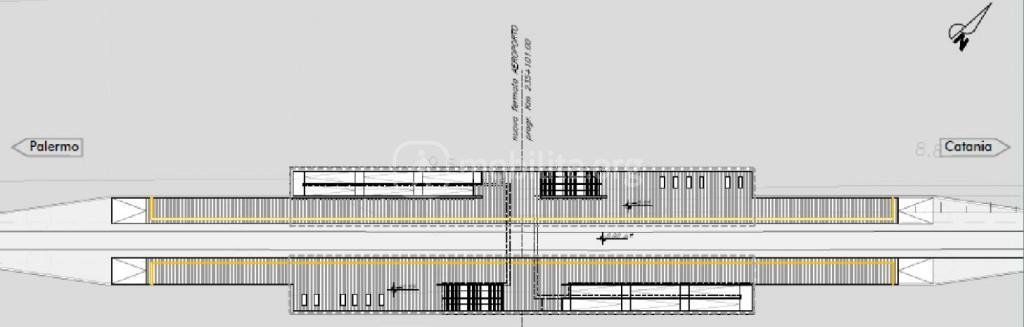Planimetri della fermata ferroviaria Fontanarossa