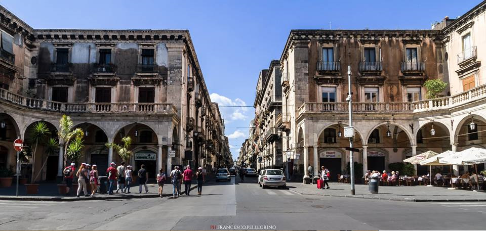 Piazza Mazzini, asse est-ovest