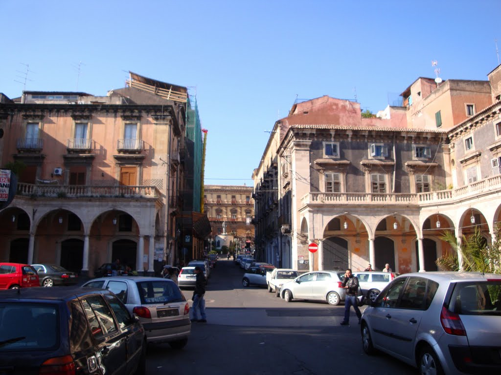 Piazza Mazzini, asse nord-sud