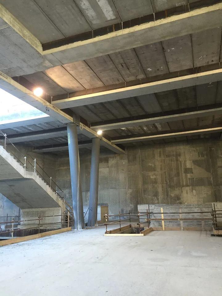 Stazione Monte Po - Piano mezzanino in costruzione