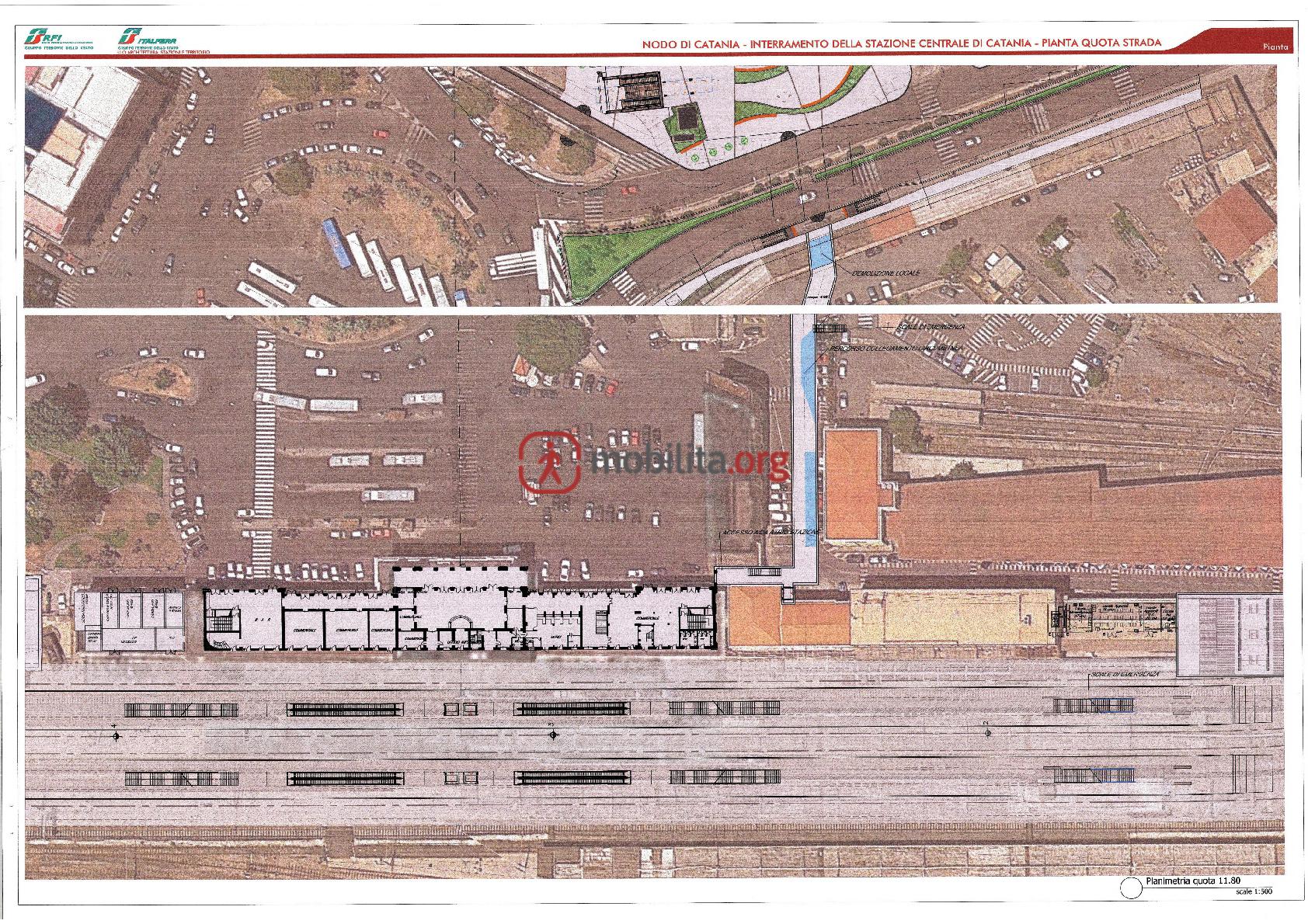 Il progetto di interramento di Catania Centrale e il collegamento con la stazione della metropolitana