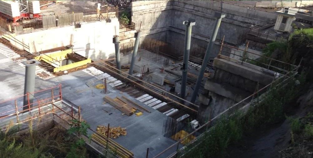 Stazione di Monte Po in costruzione. Foto di Rex70