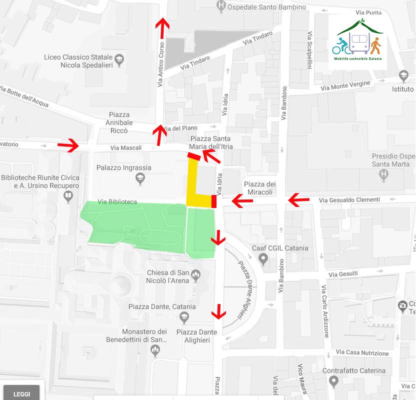 nuova viabilità piazza Dante- Catania
