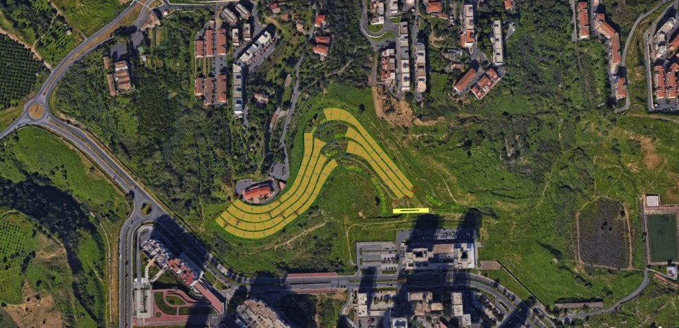 Planimetria orti urbani di Librino