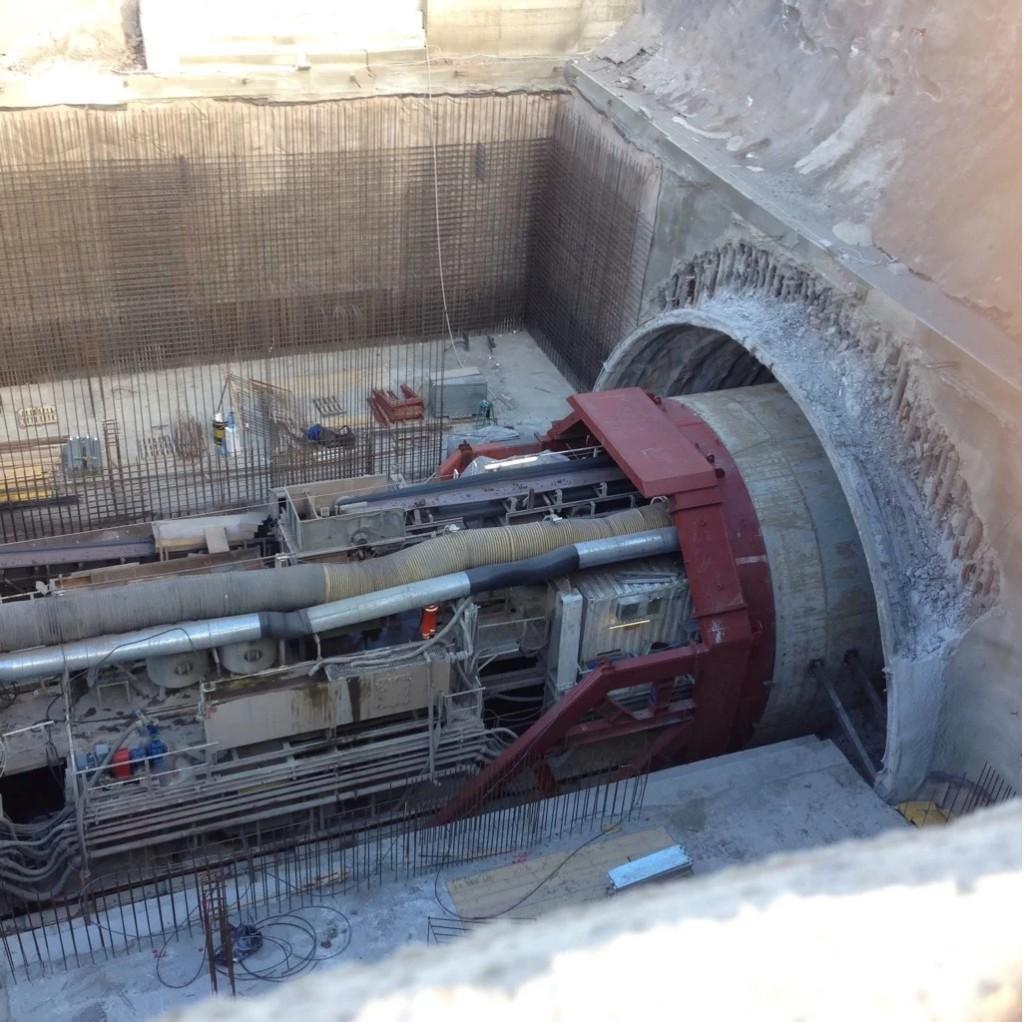 Tunnel boring machine in avanzamento verso Nesima