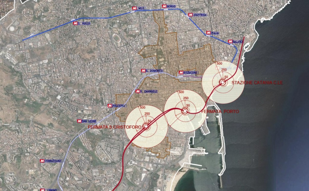 Porto 3: collocazione delle fermate ferroviarie
