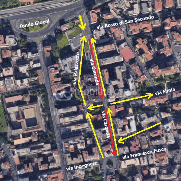 I sensi di marcia nell'area compresa tra via Francesco Fusco e viale Odorico da Pordenone a seguito della nuova determina dirigenziale