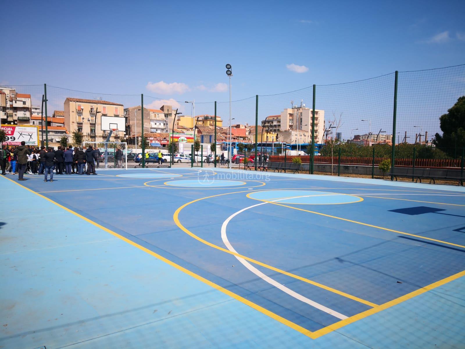 Il campetto polisportivo di C.so Martiri della Libertà (area vp6)