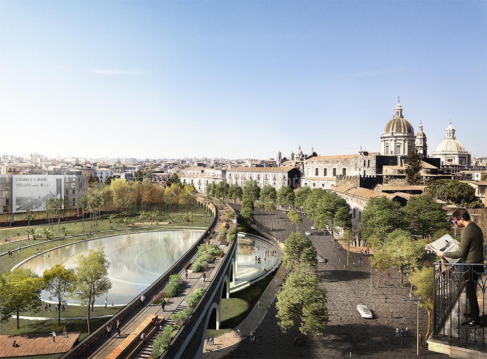 Via Cardinale Dusmet e piazza Borsellino nel progetto vincitore