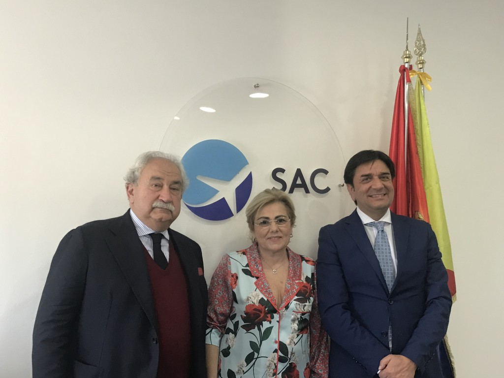 Da sin. Silverio Ianniello (presidente), Carmelina Volpe e Salvatore Maurizio Dilena