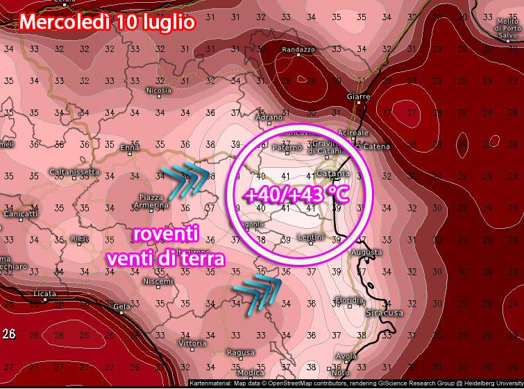 Catania mercoledì 10