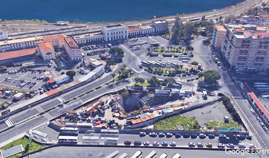 Stazione centrale vista aerea, Catania