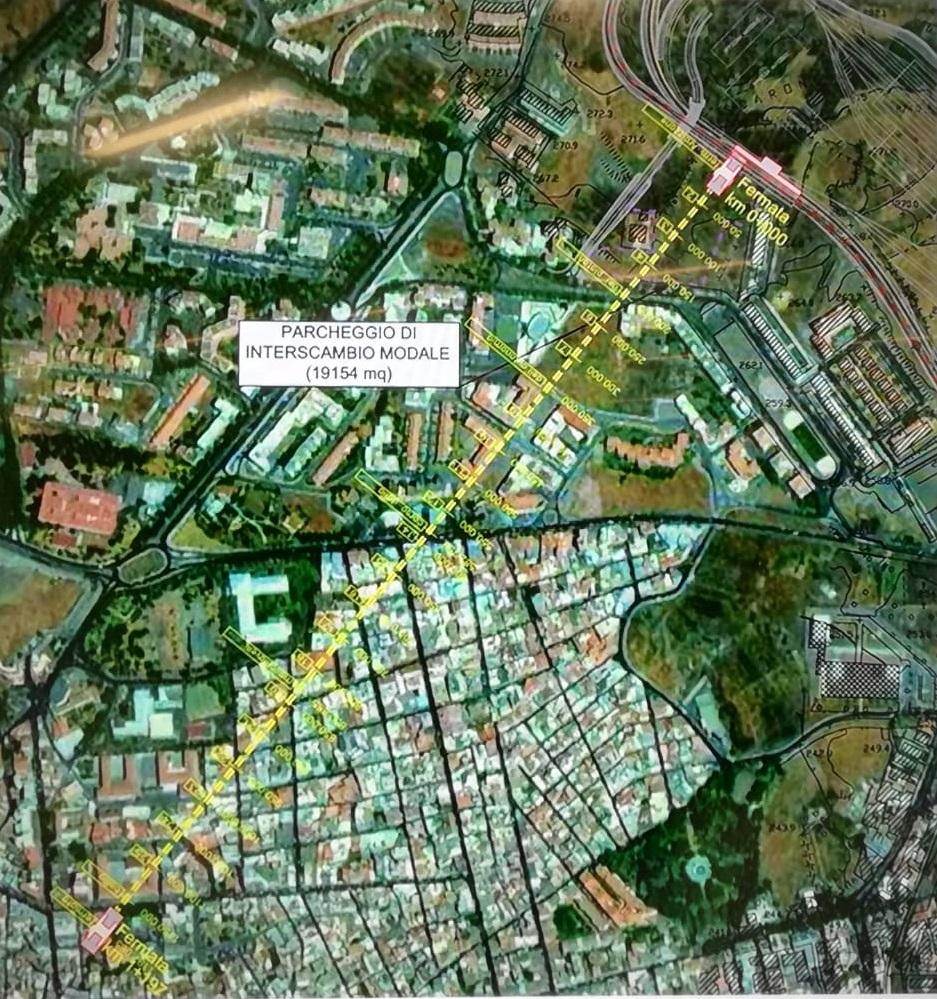 Il tracciato del People Mover di Paternò