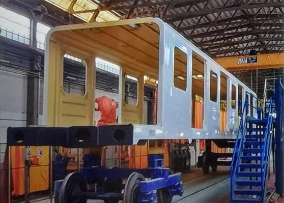Cassa del treno in costruzione