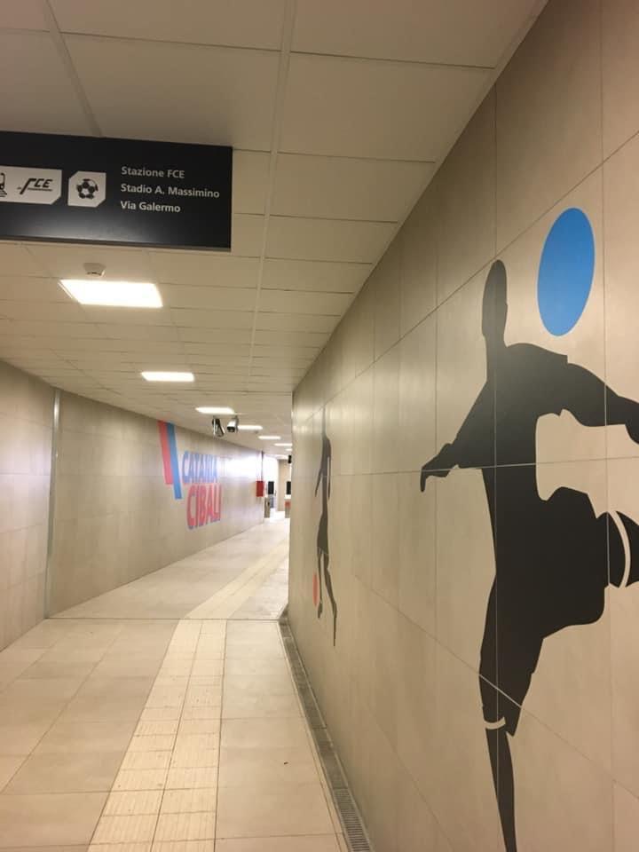 Fermata Cibali, tunnel di accesso di via Galermo