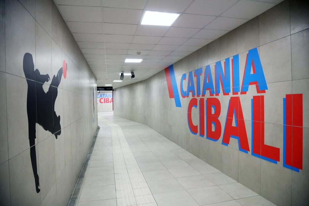 Stazione Cibali, tunnel di accesso di via Galermo
